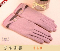 Women's fashion lace bow capable elegance warm gloves