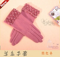 women's rabbit fur wool  gloves