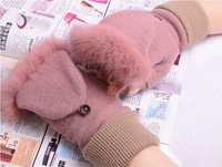 Ms. cashmere gloves half finger winter