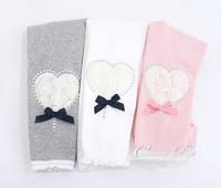 2013 New Arrivals girls leggings child Lace leggings for girl Kid Rose heart legging flower Baby legging with diamond 5PCS