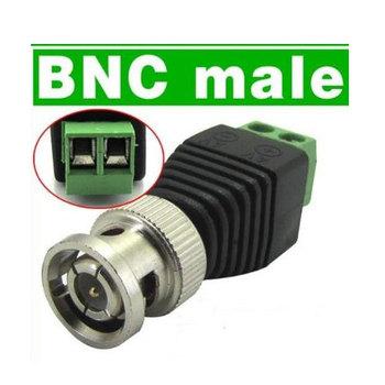 50pcs/lot Coax CAT5 to Camera CCTV BNC Video Balun Connector Wholesale Free Shipping