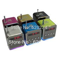 6pc TD-V26 Portable Mini Digital Speaker for MP3  PC,Support Radio, USB, TF/SD Card, Free Shipping
