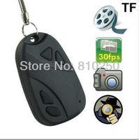Mini Hidden Car Key Digital Camera HD 720P key chain camera  DV 808 DVR DC Camcorder Video Recorder Support TF Card