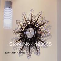 20 Large wrought iron wall clock diamond clock fashion pocket watch fashion personality silent 60
