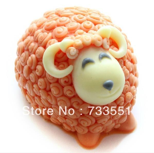 1pcs free shipping soft silicone cake tools fondant decorating sheep