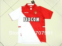 2013-14 High Thailand Quality As Monaco Asm Fc Falcao 9# Home Red Football Soccer Jerseys Uniforms Kits shirts Embroider Logo