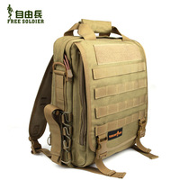 Free Shipping Top Quality Free soldier advanced tactical backpack single shoulder bag laptop bag