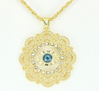 Greek Evil Eye Necklace With Pendant Good Luck Charm & Necklace Unisex Jewelry FREE SHIPPING  005