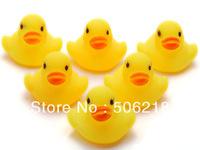 60PC Wholesale Bulk Lots Cute Rubber Ducks baby kids Children bath Toy 4x4CM