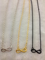 3pcs infinity necklace,silver golden gunmetal bracelet,chain bracelet,metal charm necklace 1853 Min order 10$