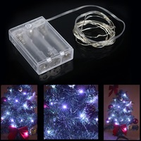 2m 20 LED String Light Lamp xmas Decoration strip Lighting for Christmas Party Wedding 4.5V White lighting free shipping