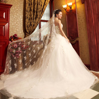 2013 tube top wedding dress long trailing the bride wedding dress princess ff00659