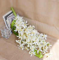 Free Shipping - artificial flower silk flower wedding flower bride holding flowers white orchid bountyless