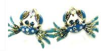 $15 Free shipping 2014 new fashion  Free shipping  Fashion bj crab earring 130630 jewelry gold earrings earrings for women