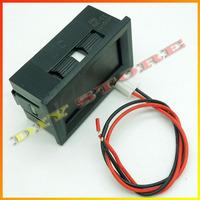 Wholesale 12V Brand New 10pcs/lot Mini DC3.2-30V  Red Digital Voltmeter Volt Panel Meter +free shipping-10000124