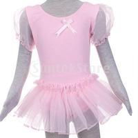 Free Shipping Girl Ballet Dance Dress Gymnastic Leotard Tutu SZ 5-6 T
