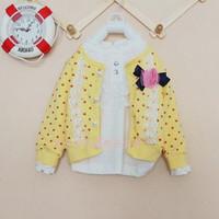 Children's clothing infant boy female cardigan cartoon long-sleeve cardigan baby all-match outerwear