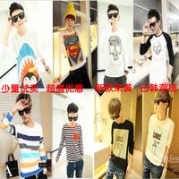 2013 autumn long-sleeve T-shirt male slim men's clothing long-sleeve T-shirt basic shirt