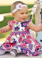 New Arrival 2014 Summer 100% cotton baby girl dress floral dresses children clothing flower girl dresses