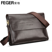 Feger brand designers men's commercial messenger bags,business briefcase for man,high quality genuine real cowhide leather TCF02