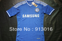 13 14 New season,Chelsea Home Blue Soccer Jersey,best thai Quality Club player version Chelsea Soccer Shirt Lampard Torres Mata