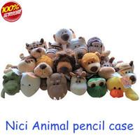 Hot Wholesale10pc Cute Nico animal pencil case Novelty gift children toys,stylish pen pocket,creative stationery,Free Shipping