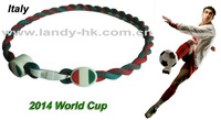 2014 World Cup Football Necklace Italy, Titanium Germanium Ionic Tornado Necklace, 500pcs/lot, Free Shipping