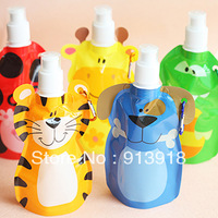 Free shipping Animal eco-friendly child portable water bottle water bottle outside sport bottle 5pcs/lot