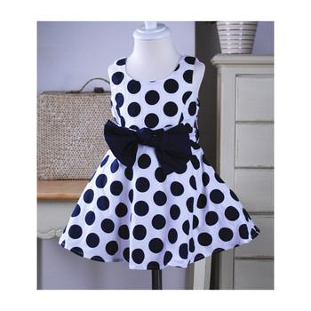 free shipping!big round dot girls sundress,girls bohemian dress with bowknot,backless children dress