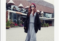 Womens Knitted Cardigan Batwing Outwear Lady Casual Loose Sweater Coat Wool Tops