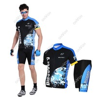 S5Q 2014 NEW Bicycle Cycling Cloths set Comfortable Outdoor Jersey + Shorts size M- XXXL Free Drop Shipping