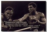 Ali Muhammad Motivational Inspirational Success Art  Wall Silk Cloth Poster 36x24 30x20 18x12 inch Big Office Room Print (062)