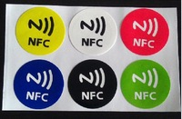 Free shipping(6 pcs)Universal Ntag203 NFC Smart Tags Stickers Label for Samsung Note3 S4 Lumia 920 Nexus4/10 BlackBerry HTC Sony