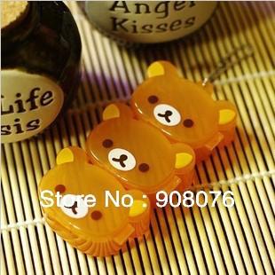 Best selling! Bear shape Mini storage box protable Jewelry Box 3pcs cascade Pill Cases 5set/lot Free shipping(China (Mainland))