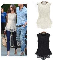 Women Elegant Lace Chiffon Blouse Slim Fit Shirts Blouses