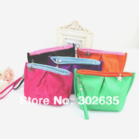 Free shipping 500PCS/LOT Korean cute Portable Wallet /coin bag/pouch/coin purse/key holder/small Purse/ cosmetic bag 5 color