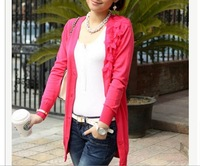Elegant Lady  shoulder applique sweater Cardigan thin section V-Neck sweater
