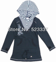 FREE SHIPPING F599#Black 3Y/8Y 5pieces /lot cartoon character embroidery  baby girl spring autumn new hoody jacket,2013 New Hot