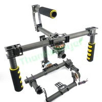 FPV 3 axis DSLR Handle Gimbal Carbon Fiber Stabilized Camera Mount for 5DII FPV Photography