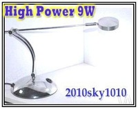 High Power Cree 9W LED desk lighting round head Alu case Home reading Lamps table spot light