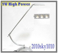 50% discount! 9W High Power Cree Desk lamp Warm White Led TABLE Lighting reading lamps Alu case