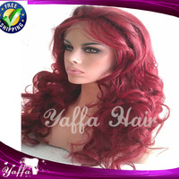 Surprice!!! Cheap #99 Burg Peruvian Virgin Human Hair Lace Front wigs / Full Lace Glueless Wigs Free Shipping