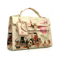 Artmi fashion vintage messenger bag preppy style print oil painting bag handbag cross-body  bolsas clutch