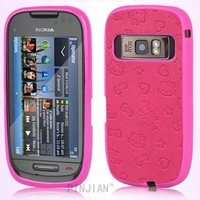 For nokia c7-00 TPU+PU mobile phone protective case c7 cell phone cover Free Shipping