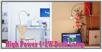 High Power 4*2W LED desk lamp 50cm flexible tube reading lighting White Color Cree bulb