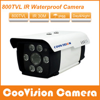 Color 6pcs Array led 70m Night Vision cctv Outdoor waterproof camera HD 700tvl sony effio-e