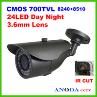 "1/4""Color CMOS 700TVL IR CUT Video Security Camera Indoor/Outdoor Bullet IR Camera"