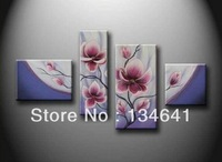 Free shipping! High quality modern handmade art canvas 4 abstract flower painting, oil painting top home / office decoration