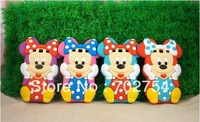 3D Mickey Minnie Soft Silicon silicone Back Cover Case For iPhone 4 4G 4S