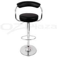 4x PU Leather Bar Stool Kitchen Chair Black